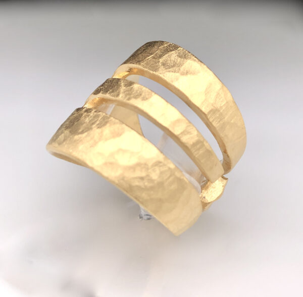 Kuchengabel Ring vergoldet